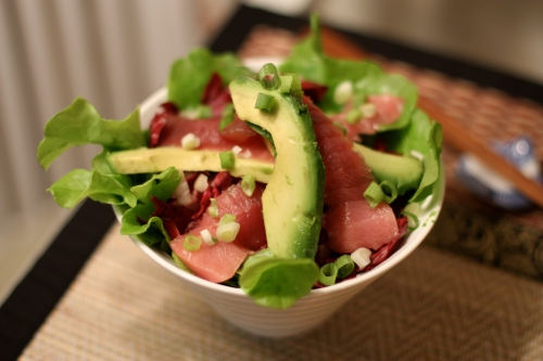 Brad's Tuna Sashimi & Avocado Salad