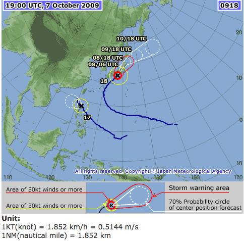 Typhoon Path