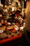 Buying an ornament at a German-style Christmas market
